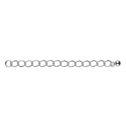 Chain Extensors 60mm x 2mm, Silver rhodium plated (6 pc/VE)