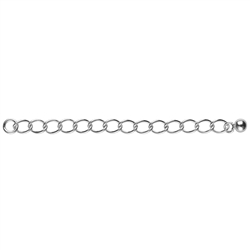 Chain Extensors 60mm x 3mm, Silver rhodium plated (6pc/VE)