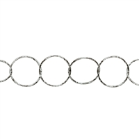 Chain by Meter, Diamond Cut round, Silver rhodiumplated, 07mm (1m/VE)