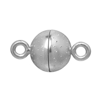 "Magnetic Clasp ""Starry sky"" round shape 08mm, Silver rhodium plated (1 pc/VE)"