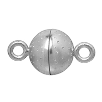 "Magnetic Clasp ""Starry sky"" round shape 10mm, Silver rhodium plated (1 pc/VE)"
