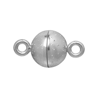 "Magnetic Clasp ""Starry sky"" round shape 06mm, Silver rhodium plated (1 pc/VE)"