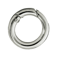 Ring Clasp 20mm, Silver rhodiumplated, round belt (1 pc/VE)