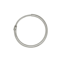 Creole 23mm, Silver rhodiumplated (2 pc/VE)
