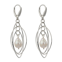 "Design Element ""Three Ovales"" 47cm, Silver rhodium plated (2 pc/VE)"