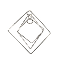 "Design Element ""Three Squares"" 49cm, Silver rhodium plated (2 pc/VE)"