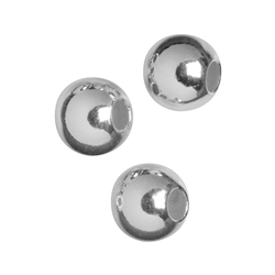 Crimp cover beads Silver rhodium plated, 5mm (29 pc/VE)