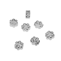 Clover 5,0mm, Silver rhodium plated (10 pc/VE)