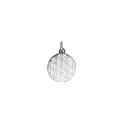 Flower of Life with Eyelet and Ring 10mm, Silver rhodium plated (4 pc/VE)