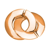 Ring-Ring-Clasp round 14mm, Silver rosegold plated, frosted (1 pc/VE)