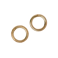 Jump Ring closed 08mm, Silver rosegold plated (20 pc/VE)
