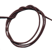 Leather String Goat Brown, 1 meter (10 pc/VE)