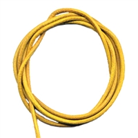 Leather Strings Goat Yellow, 1 meter (100 pc/VE)