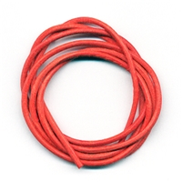 Leather Strings Goat Orange, 1 meter (100 pc/VE)