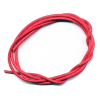 Leather Strings Goat Red, 1 meter (100 pc/VE)
