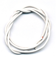 Leather Strings Goat White, 1 meter, 100 pc/VE