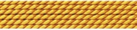 Silk Bead Cord amber, 0,60mm/2m
