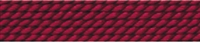 Silk Bead Cord garnet red, 0,70mm/2m