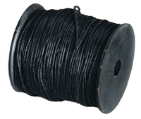 Cotton String black, 1,0mm/100m