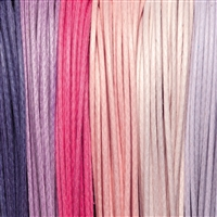 "Cotton Strings waxed, Mix ""Blütenzauber/Blossom Magic"", 1,5mm (6 colours, 5m each)"
