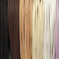 "Cotton Strings waxed, Mix ""Inspiration"", 1,5mm (6 colours, 5m each)"