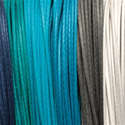 "Cotton Strings waxed, Mix ""Meeresrauschen/Surf"", 2,0mm (6 colours, 5m each)