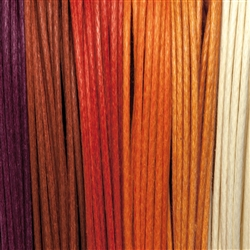 "Cotton Strings waxed, Mix ""Morgenröte/Aurora"", 2,0mm (6 colours, 5m each)