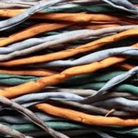"Silken Cords, Mix ""Earth"", 100cm (12 pc/VE)"