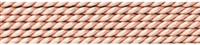 Nylon Bead Cord + beading needle, light pink, 0,60mm/2m