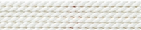 Nylon Bead Cord + beading needle, white, 0,70mm/2m