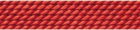 Nylon Bead Cord + beading needle, coral red, 0,80mm/2m