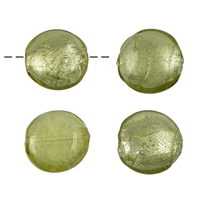 Sphere flat Glass green-silver 28mm (4 pc/VE)