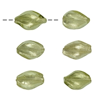 Spindle Glass green-silver 18mm (6 pc/VE)