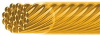 Designer Wire, 24ct gold coating, 0,45mm/10m