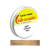 Basic Wire golden coloured, 0,38mm/25m