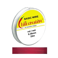Basic Wire red, 0,38mm/25m