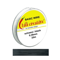 Basic Wire black, 0,38mm/25m
