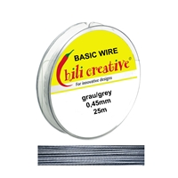 Basic Wire grey, 0,45mm/25m