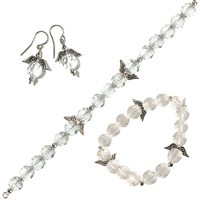 "Set ""Angle Wings"": Necklace, Bracelet, Earrings (one piece of each)