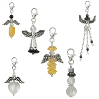 "Charms starter set ""11 Angels and a Snowman"", 925 silver (one of each motif)"