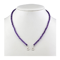 Modular Necklace Amethyst faceted, 70cm