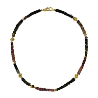 Collier Tourmaline multicolour, 48cm