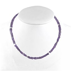 Collier Amethyst Square, 46cm