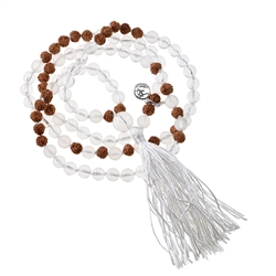Gemstone Mala Necklace Rock Crystal (Clarity)