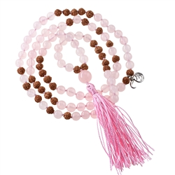 Gemstone Mala Necklace Rose Quartz (Love)