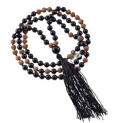 Gemstone Mala Necklace Tourmaline black (Protection)