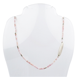 Collier Andean Opal (pink), facetted, 45cm