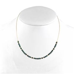 Collier Malachite, 45cm