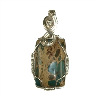 Pendant Chrysocolla with Rhyolite, appr. 82mm