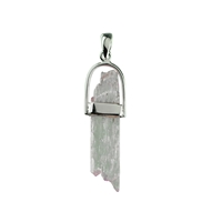 Pendant Kunzite rough, medium, appr. 40mm